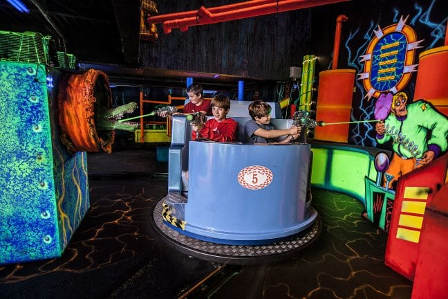Super Heroes Laser Ride at Adventure City