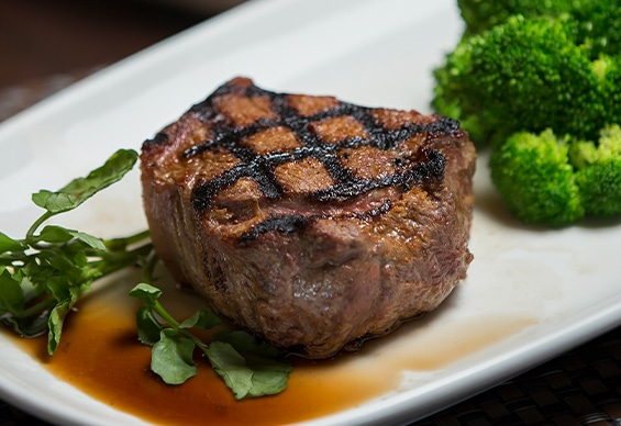 Wide selection of steak cuts at Morton's Grille