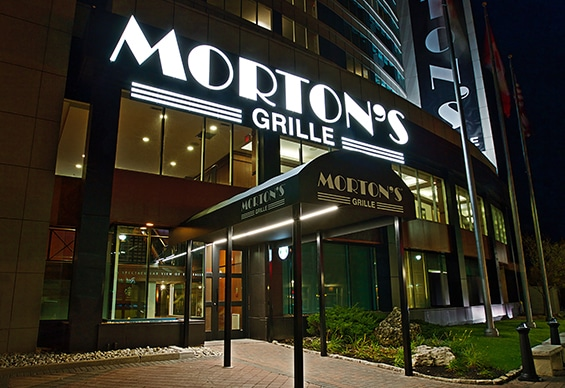 Morton's Grill entrance at Marriott Fallsview
