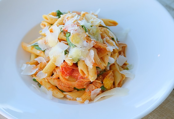 The Italian menu features some of Niagara's best ingredients