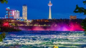 Niagara Falls Skyline at night