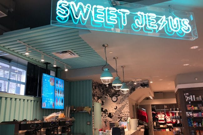 Sweet Jesus Store Front located in Sheraton Fallsview