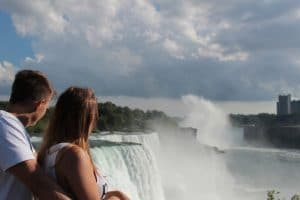 Couple viewing the Falls