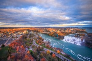 Fall colours surrounding Niagara Falls