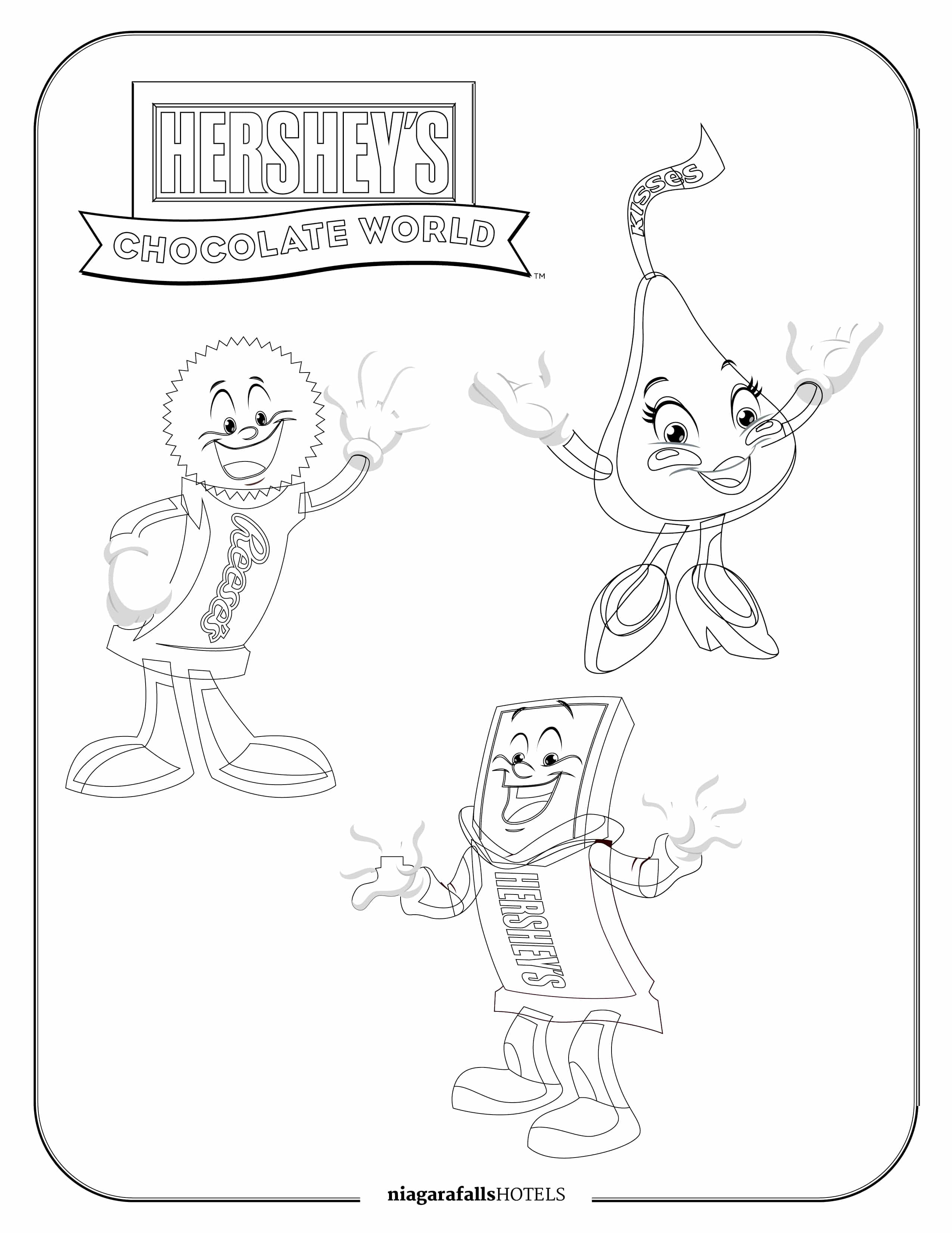 Hershey's Chocolate World Colouring Page