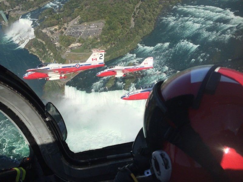 Snowbirds Over Niagara Falls
